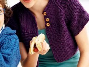 bolero a tricoter modele gratuit