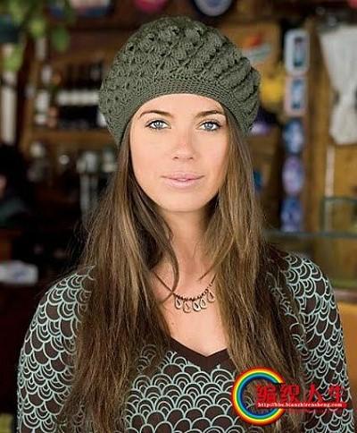 bonnet au crochet pour femme