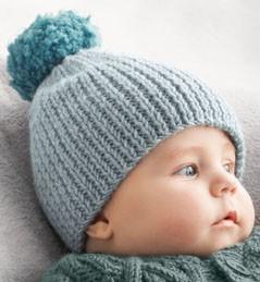 bonnet bebe a tricoter facile