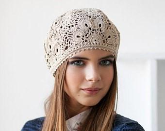 bonnet femme crochet coton