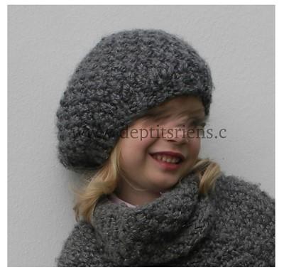 bonnet fille tricot