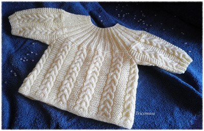 brassiere bebe a tricoter explication