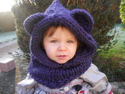 capuche tricot