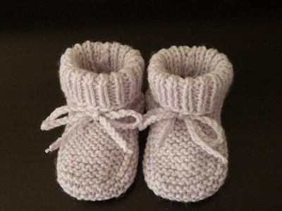 chausson en tricot
