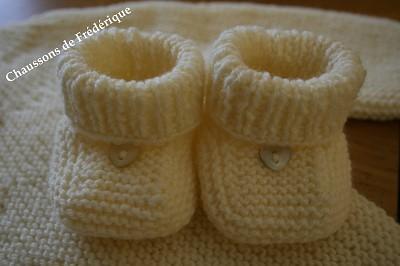 chaussons bebe a tricoter gratuit