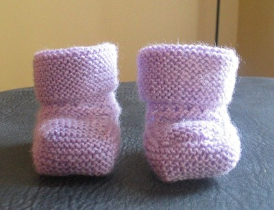 chaussons bebe tricot debutant
