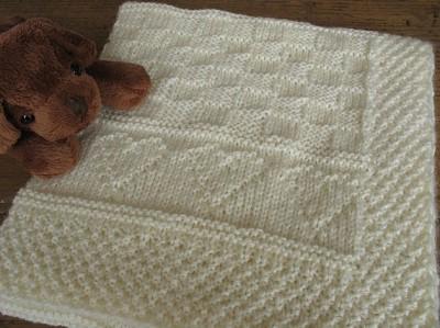 couverture de bebe au tricot