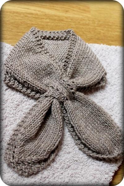 echarpe bebe a tricoter