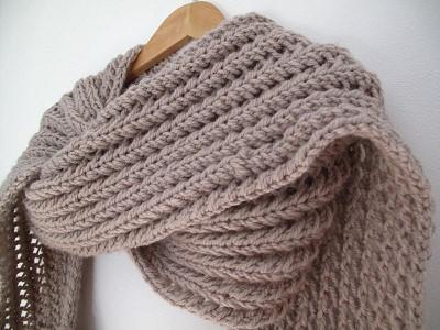 echarpe crochet debutant