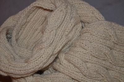 echarpe torsade tricot modele