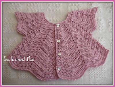 gilet crochet bebe