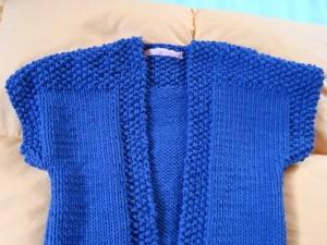 gilet sans manche fille tricot