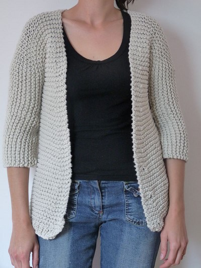 gilet tricot facile
