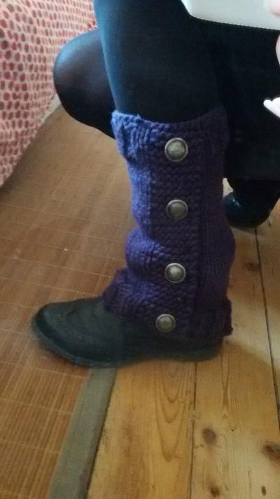 guetre a tricoter