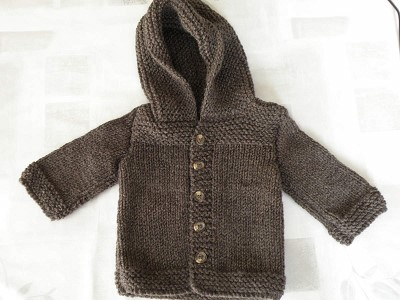 manteau tricot bebe