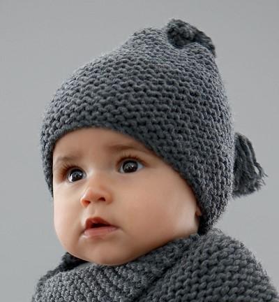 modele bonnet bebe tricot