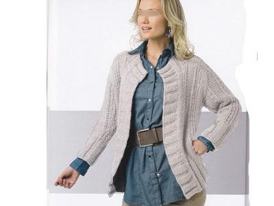 modele cardigan femme tricot gratuit