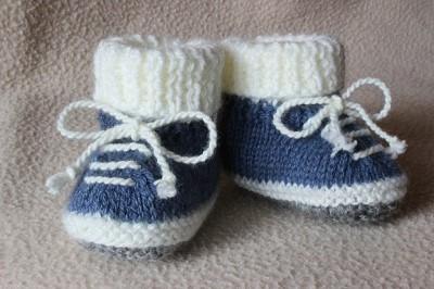 modele chausson tricot gratuit