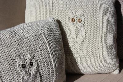 modele coussin tricot gratuit