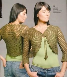 modele de gilet bolero au crochet