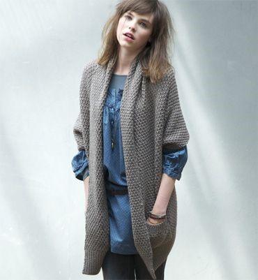 modele de gilet femme a tricoter gratuit