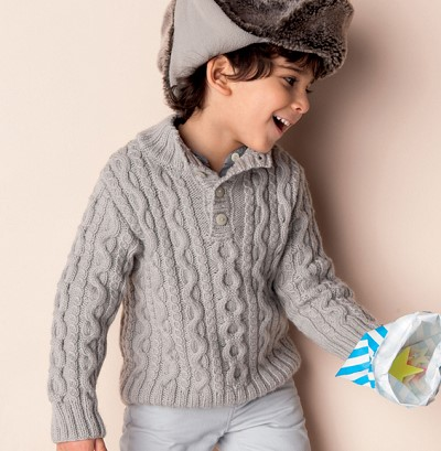 modele de pull garcon a tricoter
