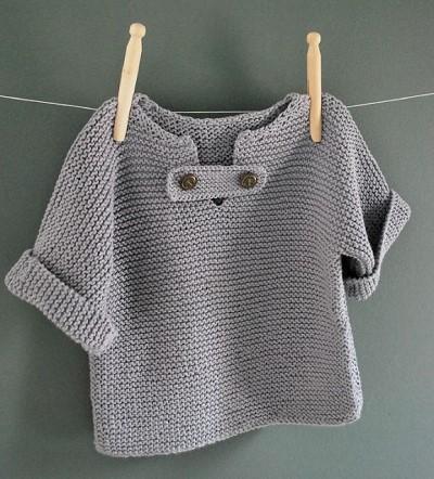modele de tricot facile gratuit pour bebe
