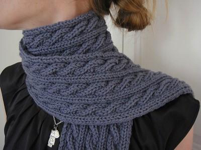 modele echarpe tricot gratuit