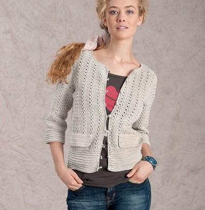 modele gilet crochet