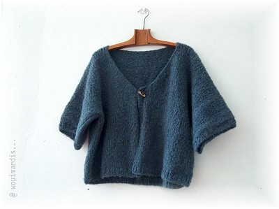 modele gilet femme tricot facile