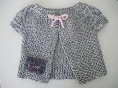 modele gilet tricot bebe