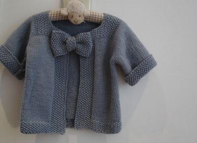 modele gilet tricot fille
