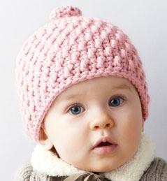 modele gratuit bonnet bebe crochet