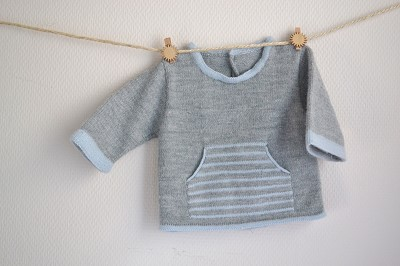 modele gratuit tricot layette garcon