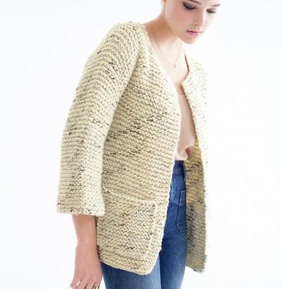 modele gratuit veste tricot femme
