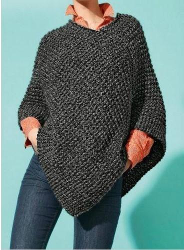 modele poncho femme tricot gratuit