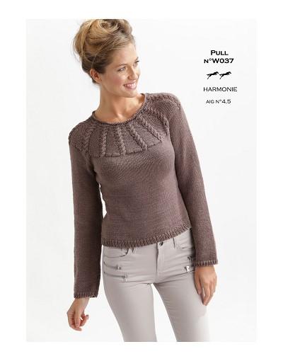modele pull coton femme