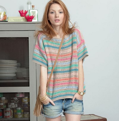 modele pull crochet
