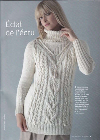 modele pull laine femme