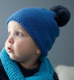 modele tricot bonnet bebe facile