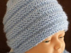 modele tricot bonnet bebe naissance