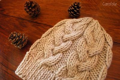 modele tricot bonnet torsade femme