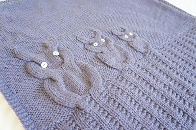 modele tricot couverture