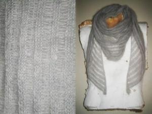 modele tricot echarpe mohair