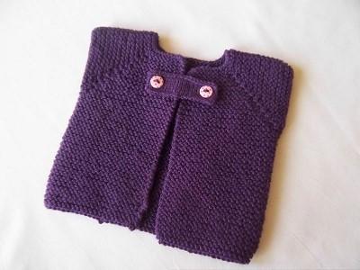 modele tricot gilet sans manche fillette