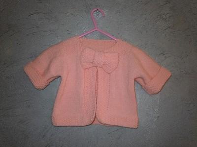 modele tricot gratuit bolero fille