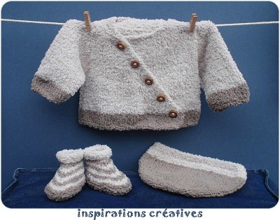 modele tricot naissance gratuit