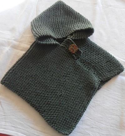 modele tricot poncho bebe gratuit