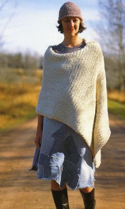 modele tricot poncho