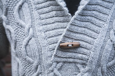 modele tricot pull col chale homme